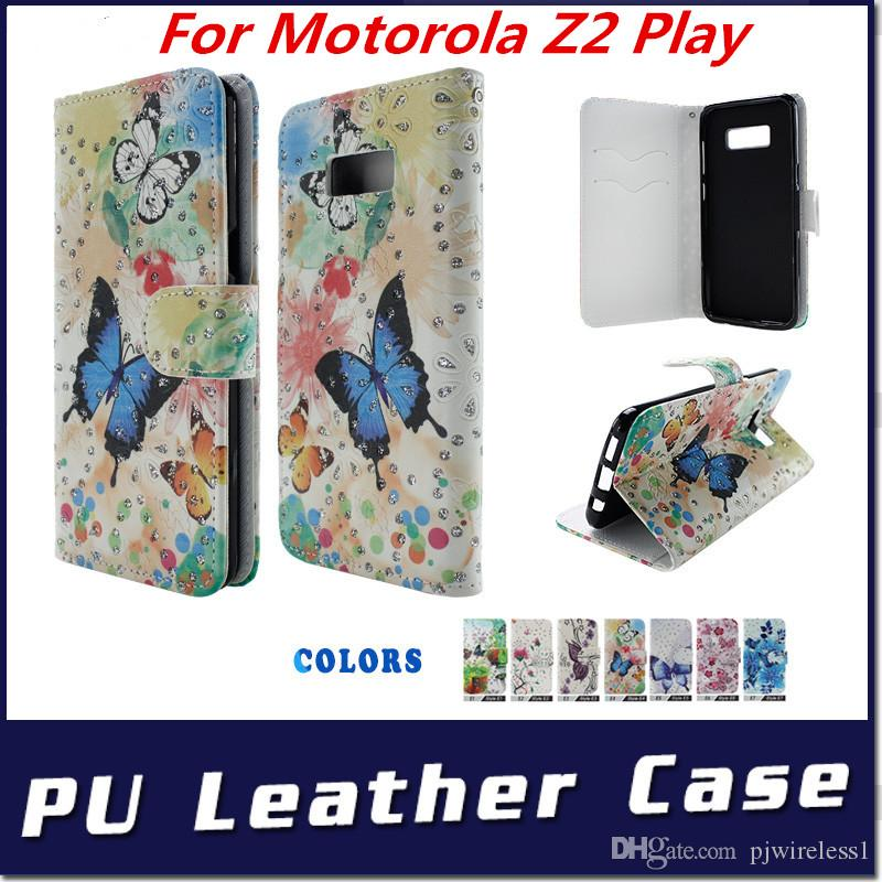 buy online eb8e1 ea8f3 wallet Case For Motorola Z2 Play Z2 Force For huawei Y7 prime mate 10 pro  PU Leather with stand phone cover C