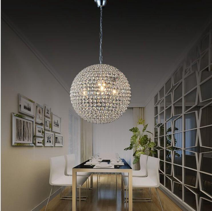 Modern k9 crystal ball pendant lamp contracted creative round modern k9 crystal ball pendant lamp contracted creative round crystal chandelier sitting room bedroom lighting online with 1141piece on haxiaosaless aloadofball Choice Image