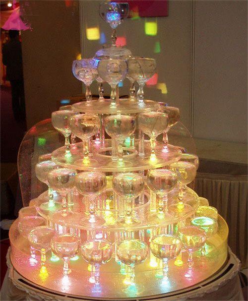 Colorido led cambio de barra de luz novela flash bloque de celebración de la boda de cristal LED cubos de hielo 1203 # 03