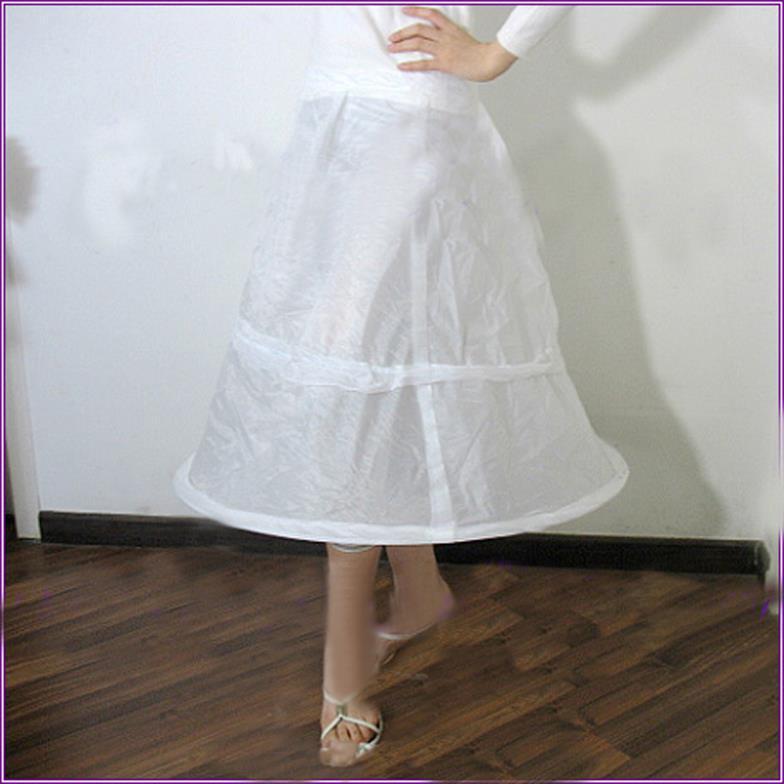 3 Hoop White Petticoat Wedding Gown Crinoline Petticoat