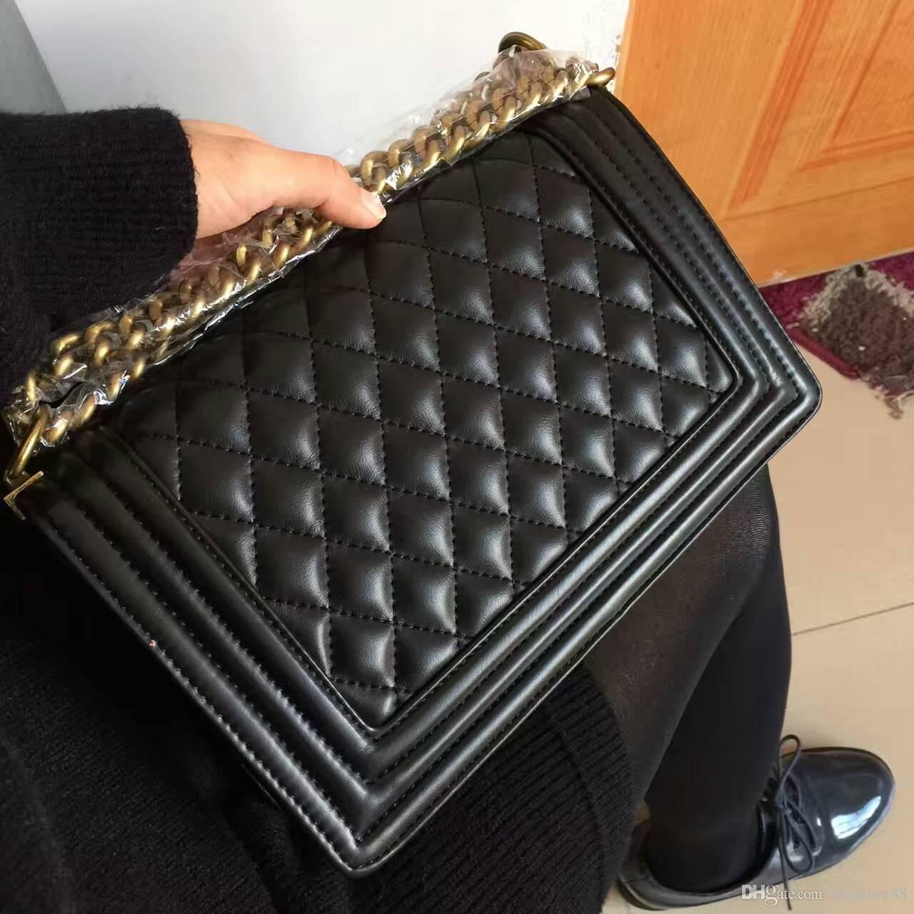 Classic Leather black gold silver chain Free shipping hot sell Wholesale retail Hot bags handbags shoulder bags tote bags messenger bag