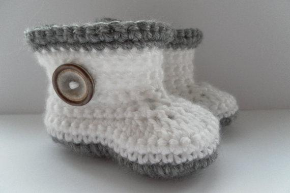 2015 Comfortable Fashion Cute Baby Girls Woolen Warm White and grey Handmade Knit High-top Tall Boots Shoes 0-12M custom