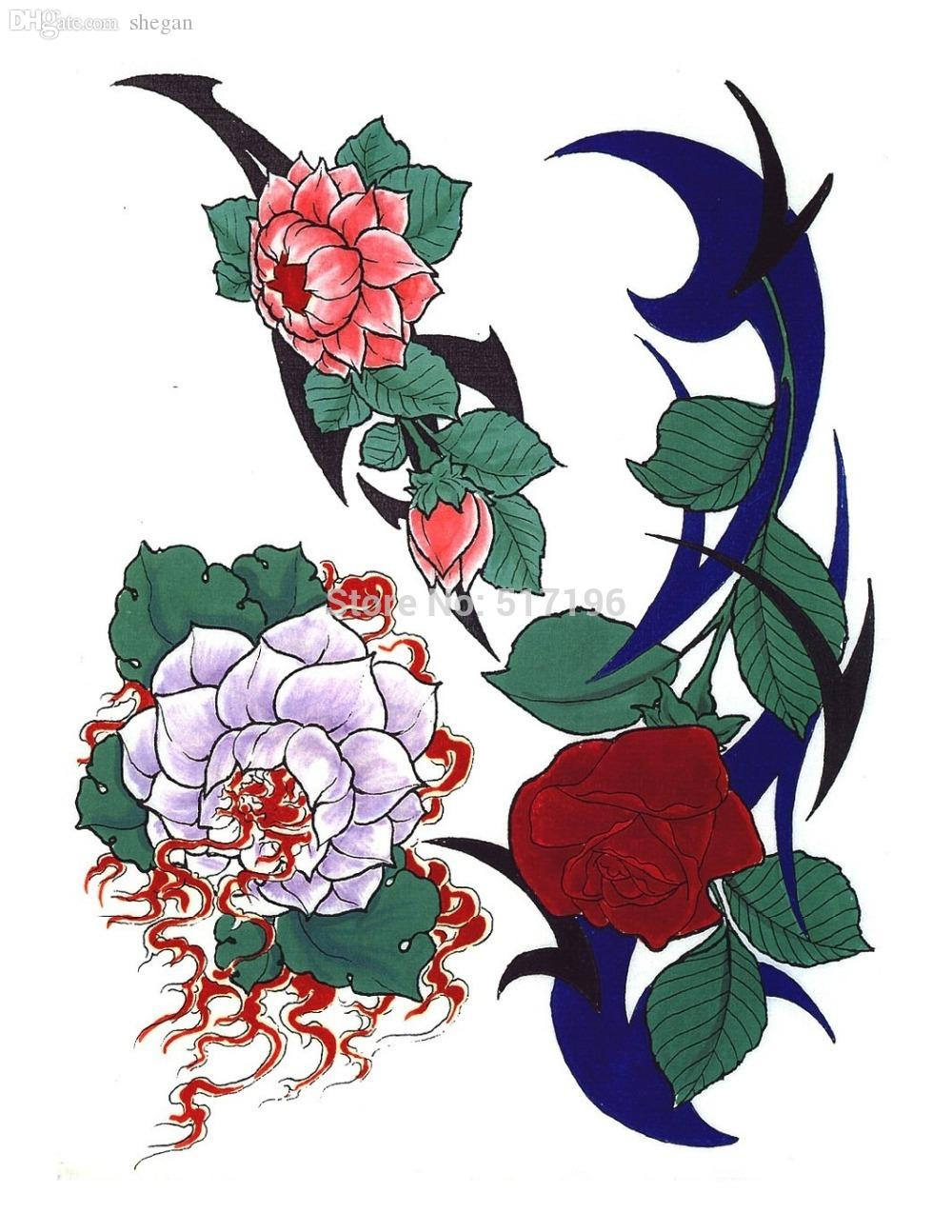 Wholesale Pdf Format Tattoo Book Various Beautiful Flowers Tattoo
