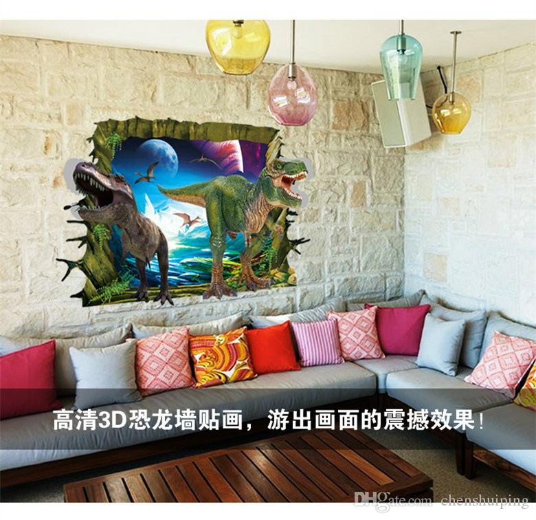 3d wall stickers for kids rooms boys dinosaur decals for Baby Room decor christmas decorative vinyl poster decoration