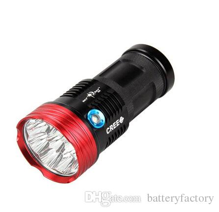 Free Epacket,2016 NEW SKYRAY King 17000LM 10xCREE XML T6 LED Flashlight Torch Tactical Hunting Work Lamp