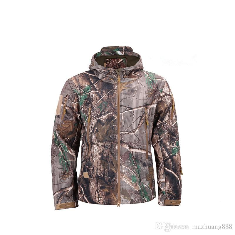 Dropshipping Lurker Shark Skin Softshell V5 Military Tactical Jacket Men  Waterproof Coat Camouflage Hooded Army Camo Clothing Jean Jacket With Fur  Bomber ... 7fd15ef622