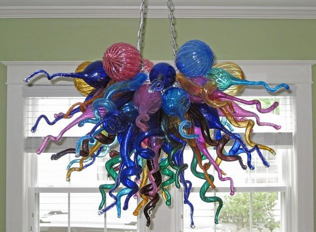 Color/Size Customized CE/UL Certificate Professional Cheap Murano Glass Chandelier for Home Lighting