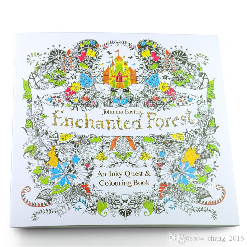 Adult Coloring Books 24 Pages Secret Garden Fantasy Dream Enchanted Forest Animal Kingdom Book Relieve Stress Painting Children