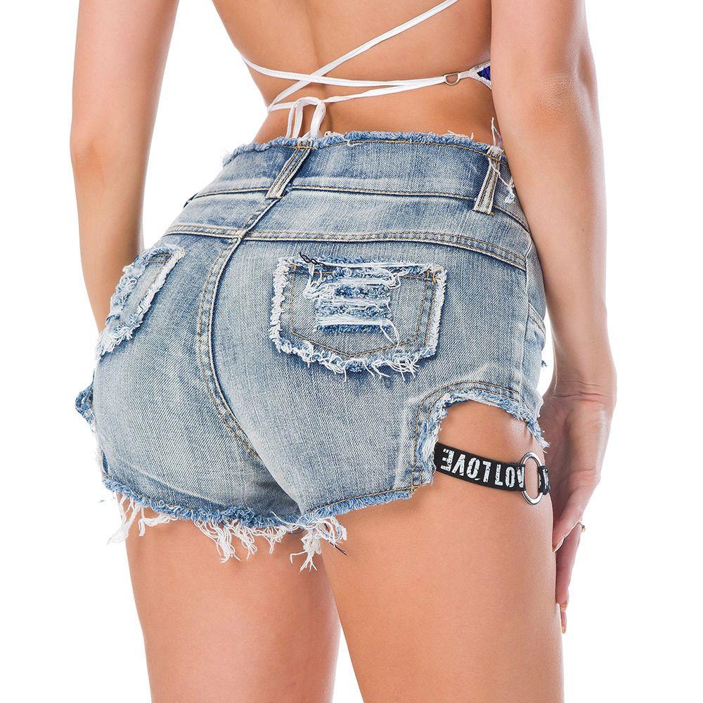 Sexy Frauen Shorts Mode Sommer Denim Loch Quaste Kurze Niedrige Taille Stretch Mini Dünne Jeans Shorts Mädchen Club tragen