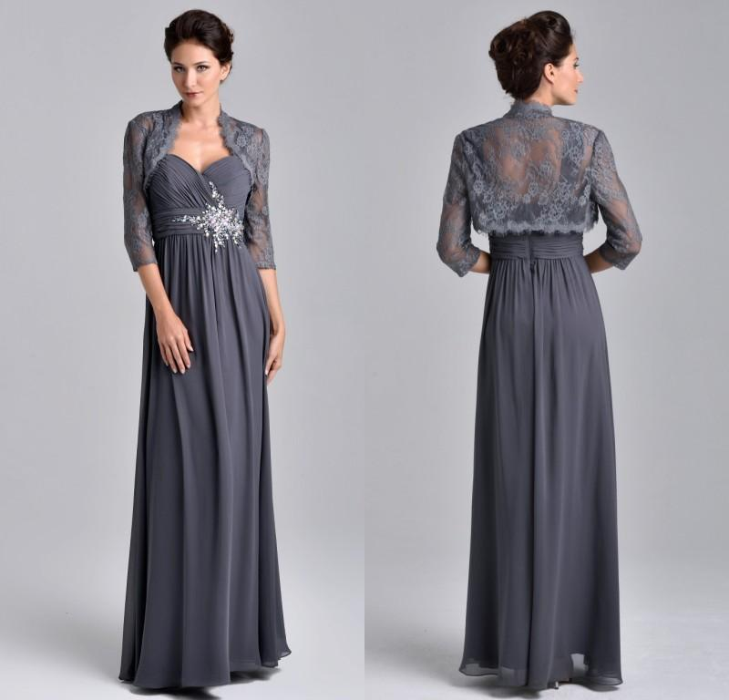 Stunning Mother Of The Bride Dresses: 2015 Stunning Beaded Chiffon A Line Evening Dresses Floor