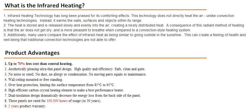 473-YC6-15,/ lote, bueno para cristal de montaje en pared de infrarrojo lejano, pared caliente, calentador de infrarrojos, calentador de cristal de carbono