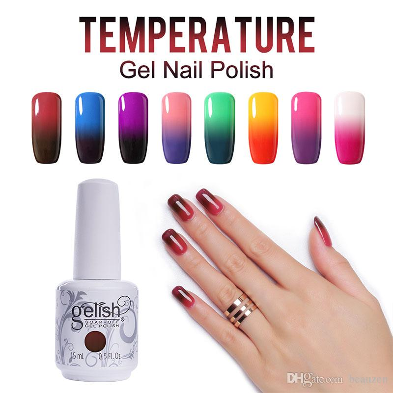 Choose Any Gelish Nail Art Soak Off Temperature Color Changing Gel ...