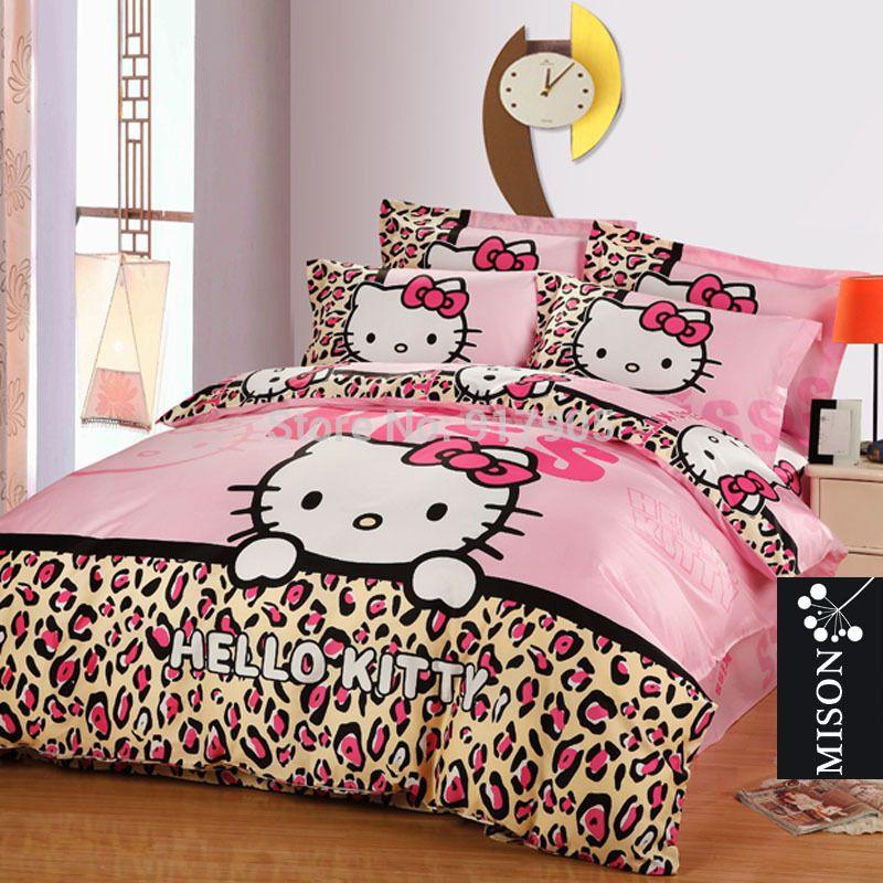 Best Cute Kids Hello Kitty Duvet Covers Set Twin Full Queen Size