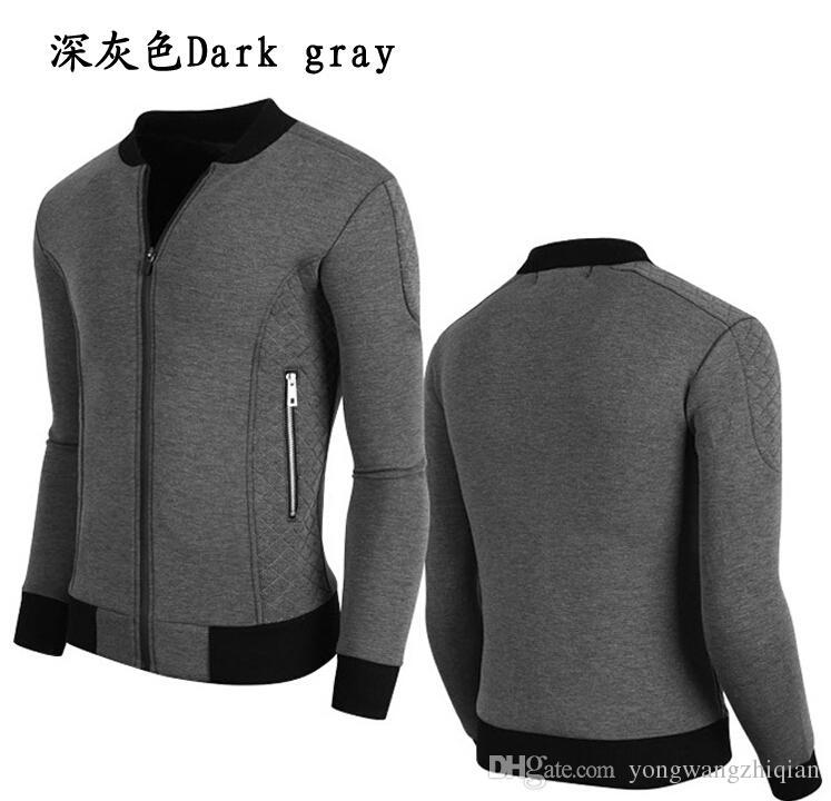 Spring 2016 foreign trade goods men's new winter screw-type spell color zipper fleece coat of cultivate one's morality fleece coat