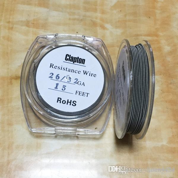 Clapton wire resistance wire 15 feet 24 26 30 32 awg gauge for vape clapton wire resistance wire 15 feet 24 26 30 32 awg gauge for vape mods rda e cig cigarette atomizer rba dhl free clapton wire clapton coil clapton heating greentooth Choice Image