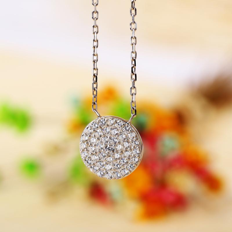 US Market Best Selling Fashion Luxury CZ Diamond Micro Paved 925 Sterling Silver Wedding Pendant Necklaces In Lucky Sonny Store