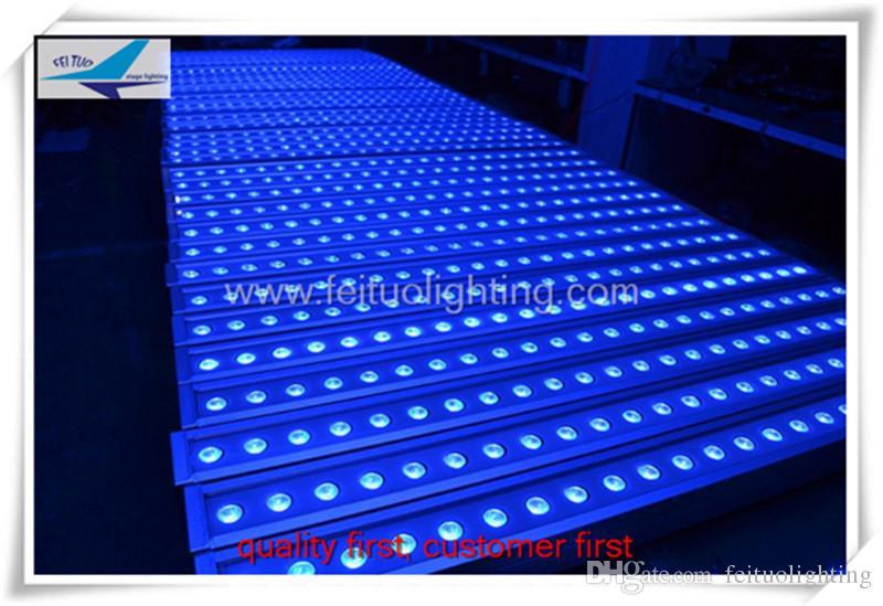 10 peças / lote frete grátis ao ar livre levou arruela da parede rgb 3in1 24x3 w levou barra de luz dmx iluminação de palco