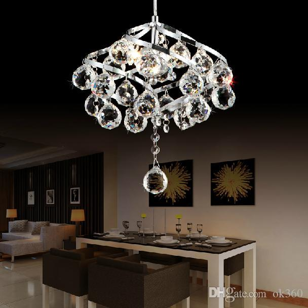 Modern crystal lamps bedroom chandelier diamond k9 crystal pendant lamps chandelier for dinning room entrance corridor lights art restaurant online with
