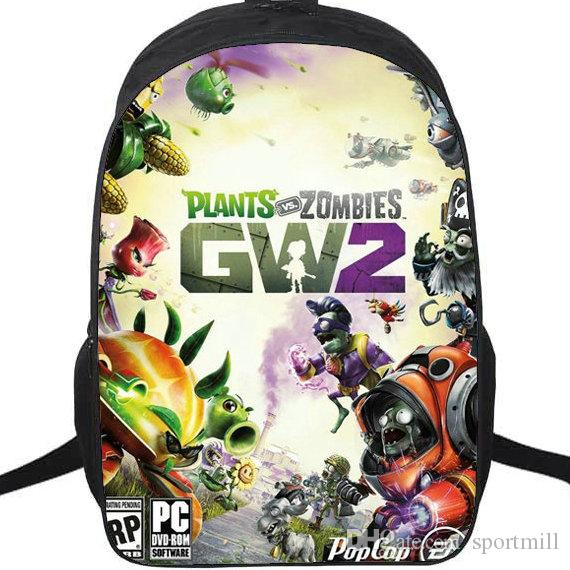 2018 Garden Warfare 2 Backpack Plants Vs Zombies School Bag Pvz Daypack  Game Schoolbag Outdoor Rucksack Sport Day Pack From Sportmill, $27.54 |  Dhgate.Com