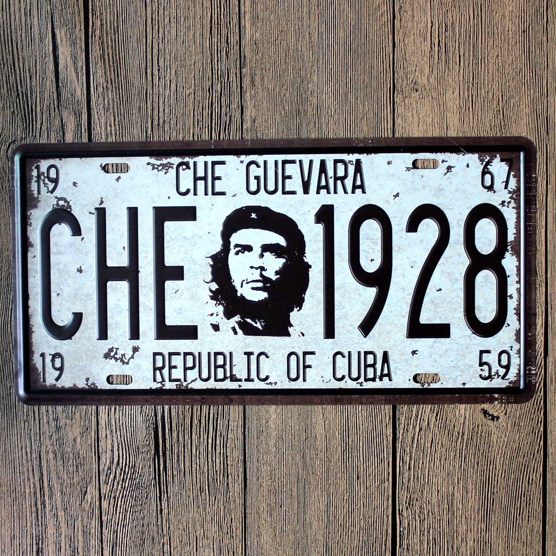 Che Guevara Che 726 Car Number Plates Retro Metal poster Tin Sign tps Home Pub Bar Decor 6