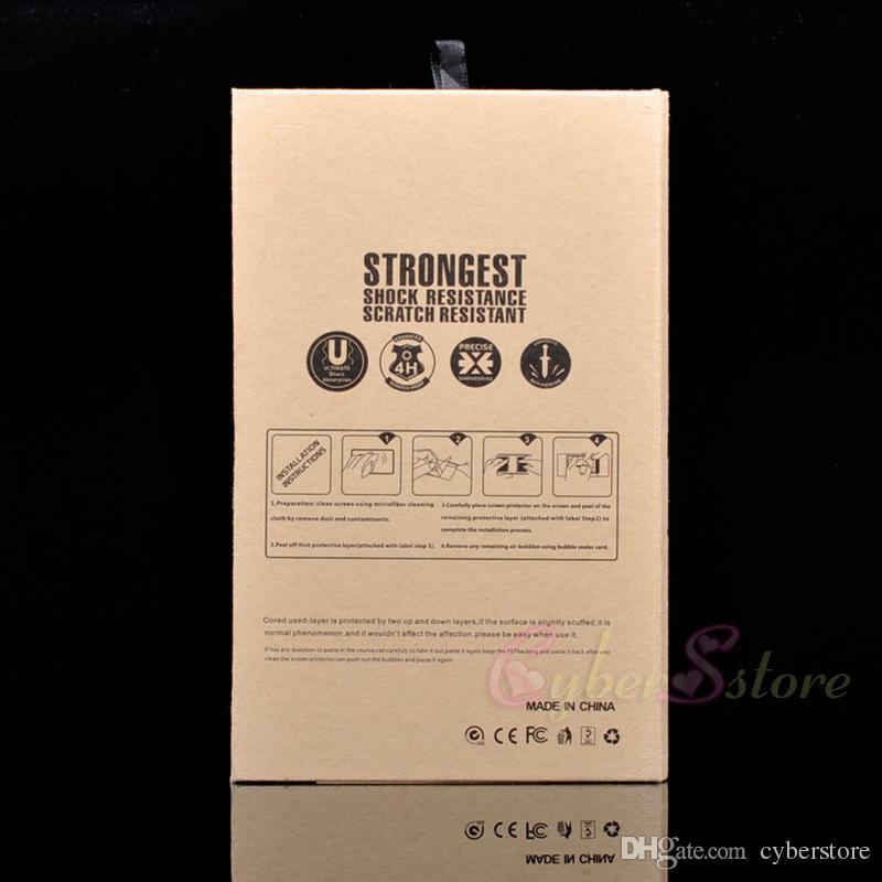 Leere luxus-einzelhandelspaket 5-13,5 zoll Box für gehärtetes Glas-Bildschirm-Schutz flim ipad Pro ipad mini, Air iphone