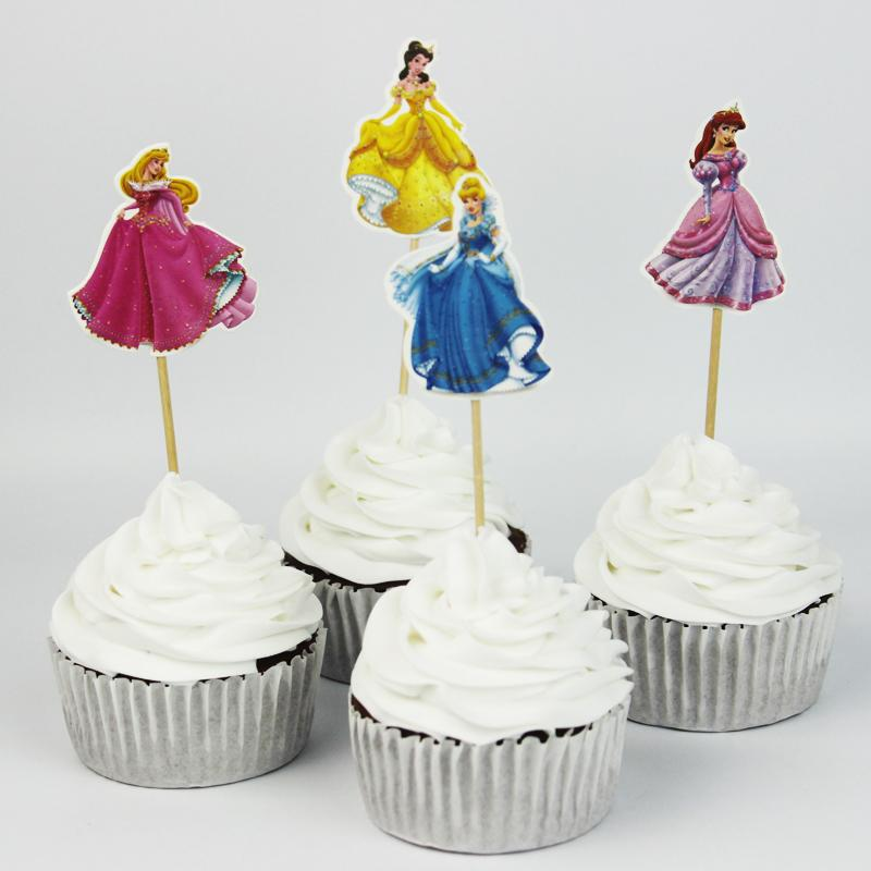Cute Cinderella Cake Decorating Tools Fruits Cupcake Inserted Card