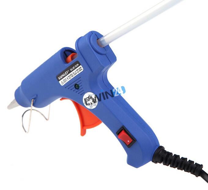 Handy Professional High Temp Heater Hot Glue Gun with 50 Glue Sticks Graft Repair Heat Ggun Pneumatic Tools 20W EU Plug