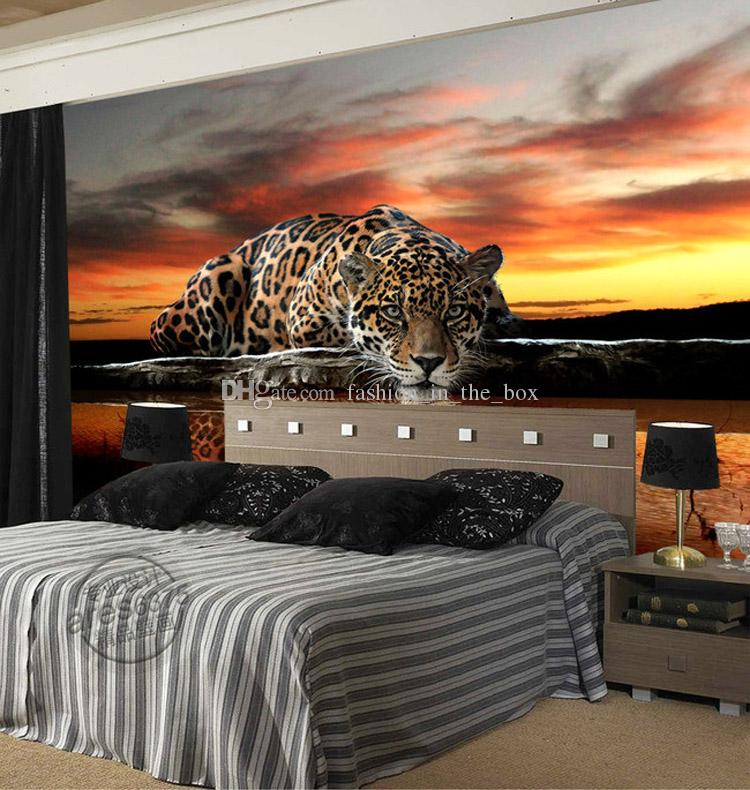 Custom Photo Wallpaper Animal Leopard 3d Wallpaper