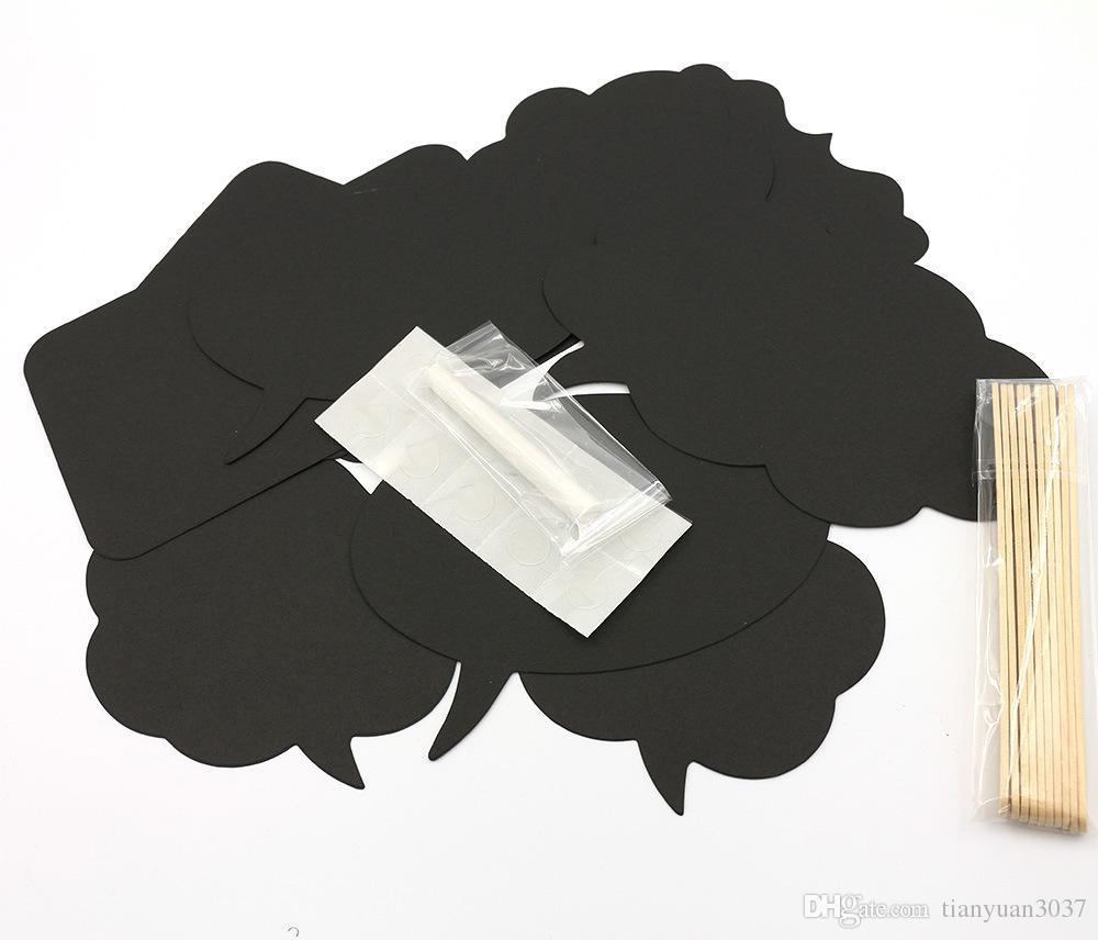 Фото стенд реквизит мысль пузырь свадебные украшения день рождения облака Squarae круглый с freechalk наклейки клей бесплатная доставка TY881