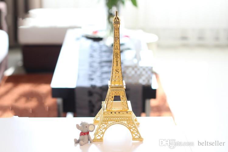 Romantyczny Złoty Paryż Wieża Eiffla Model Stop Eiffla Wieża Metalowe Pamiątki Ślubne Centrum Ślubne Centerpiece Wiele rozmiarów