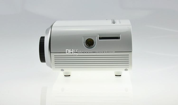Electric Zoom Tragbare Heimkino Video Multimedia Pico Micro LCD handliche LED-Miniprojektor HDMI USB-AV VGA-Fernsehtuner Tripod Netter Lautsprecher