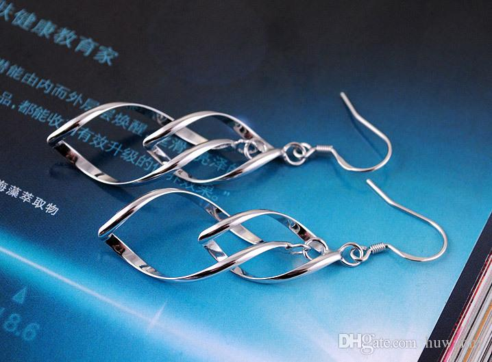 Bestnote Silber-Ohrringe Heiße Verkaufs-Tropfen baumeln Leuchter-Ohrringe für Frauen-Mädchen-Hochzeit Fashion Schmuck Großhandel - 0048WH