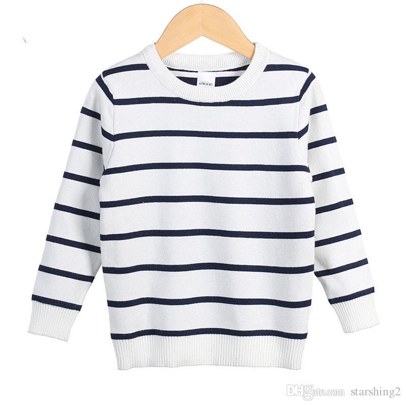 9241e9d7205f Children s Autumn Winter Sweaters Baby Kids Pullover Striped ...