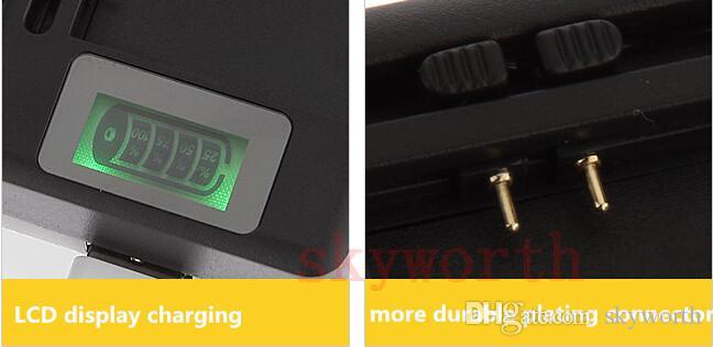 Schermo LCD universale USB AC Telefono Batteria Li-ion Caricatore da viaggio dock a parete di casa Samsung Galaxy S4 S5 bordo S6 Note 3 4 Nokia Cellphone