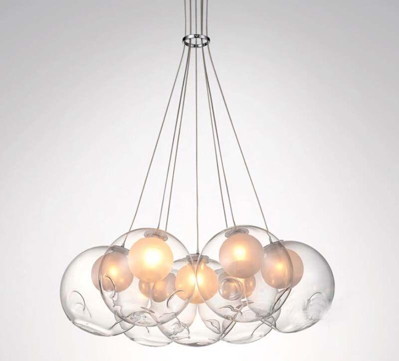 Led Modern Double Cover Glass Ball Pendant Light Soap