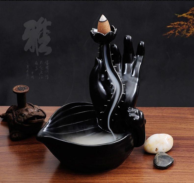 Bergamot Lotus Smoke Incense Burner Ceramic Tower Incense