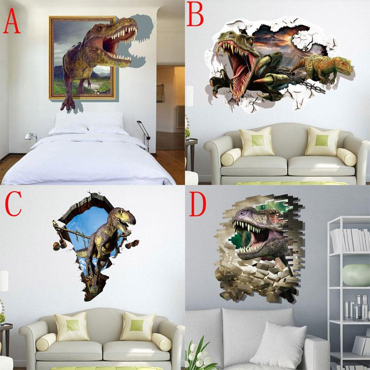 Cm New D World Wall Stickers Decorative Wall Decal Wallpaper - 3d dinosaur wall decals