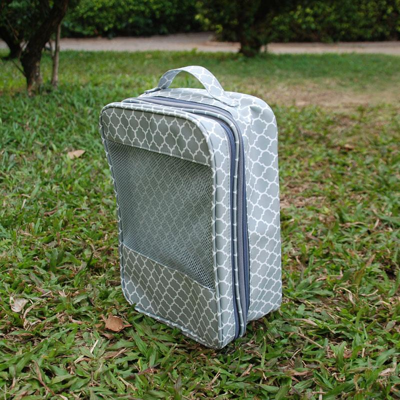 Quatrefoil Multipurpose Saco de Armazenamento Levar Bagagem Tote Overnight Bag Organizador de Tecido Organizador Beach Saco Dom106242