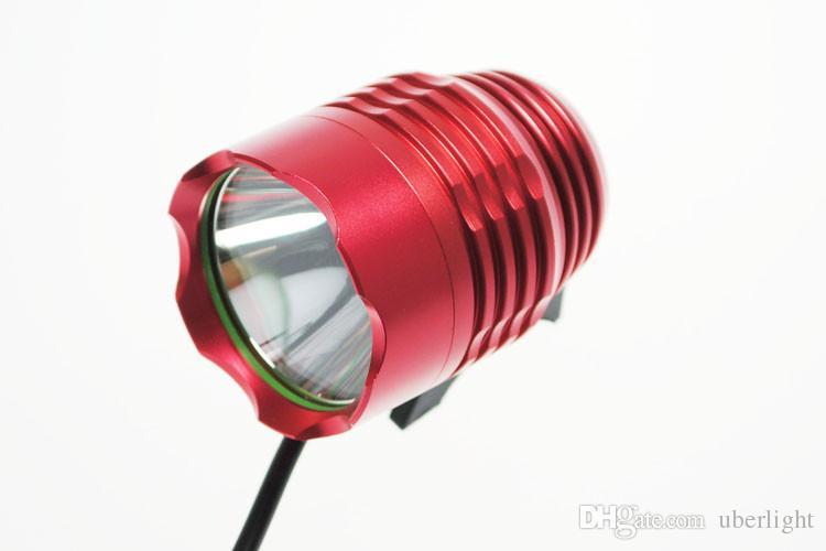 T6 Luce bicicletta XM-L T6 LED anteriore bicicletta 1800 lumen 3 modalità LED fari bicicletta