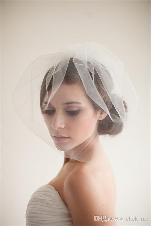 جديد وصول أحمر الخدود الحجاب اكسسوارات الزفاف جودة عالية تول حافة طبقة واحدة الحجاب الزفاف الحجاب الزفاف ل أحداث الزفاف