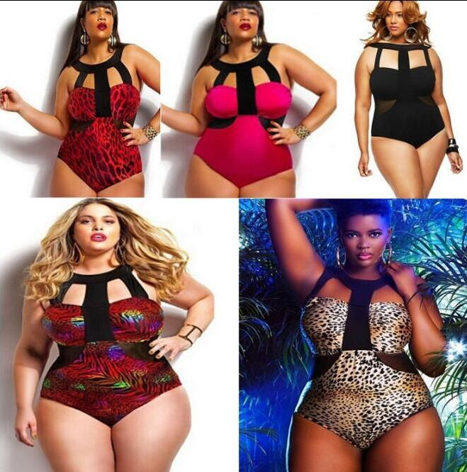 a974069b13 Plus Size Women Swimwear Women 2016 Retro High Waist Fashion One Piece  Swimsuit