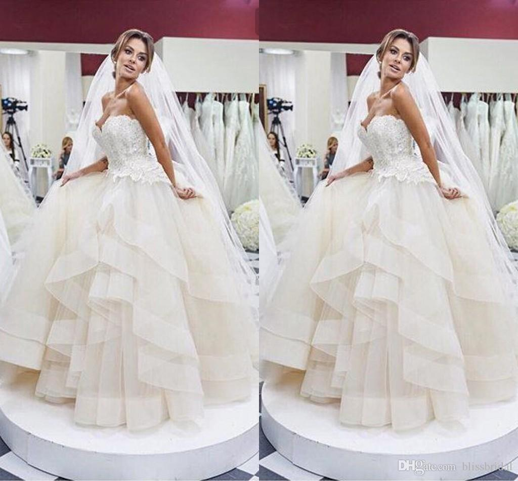 Wedding Gowns With Ruffles: Organza Ball Gown Wedding Dresses Ruffles Layered