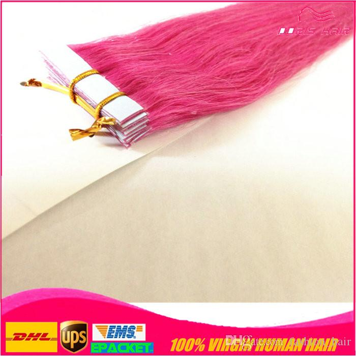 colorized tape hair extension straight remy Tape Hair Extensions Strong Tape Adhesive Tape hair extensions epacked