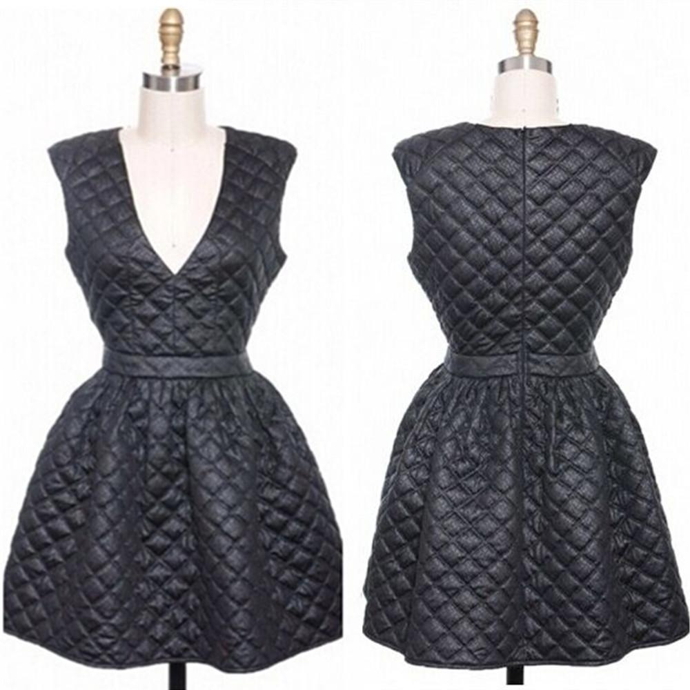 Hot Sale Fashion Black Bandage Dress Deep V-Neck Sleeveless Ball Gown  Bodycon Dress Sexy 52a527d1a
