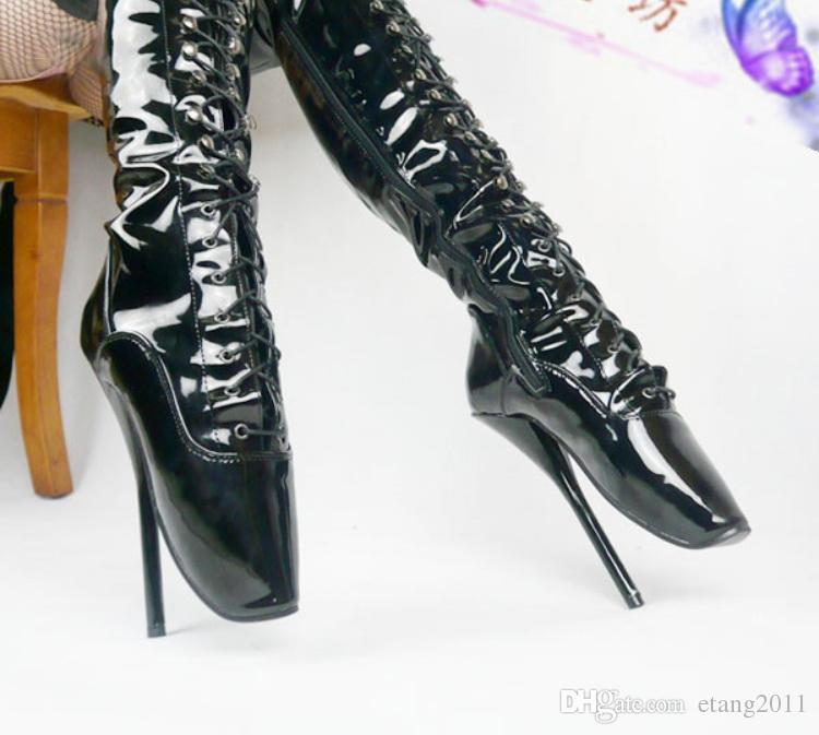 Frete grátis brinquedos sexuais Unisex sexy BDSM sm jogo pônei fetiche coxa botas de alta bondage ferradura de salto Especial Sapatos de Finalidade