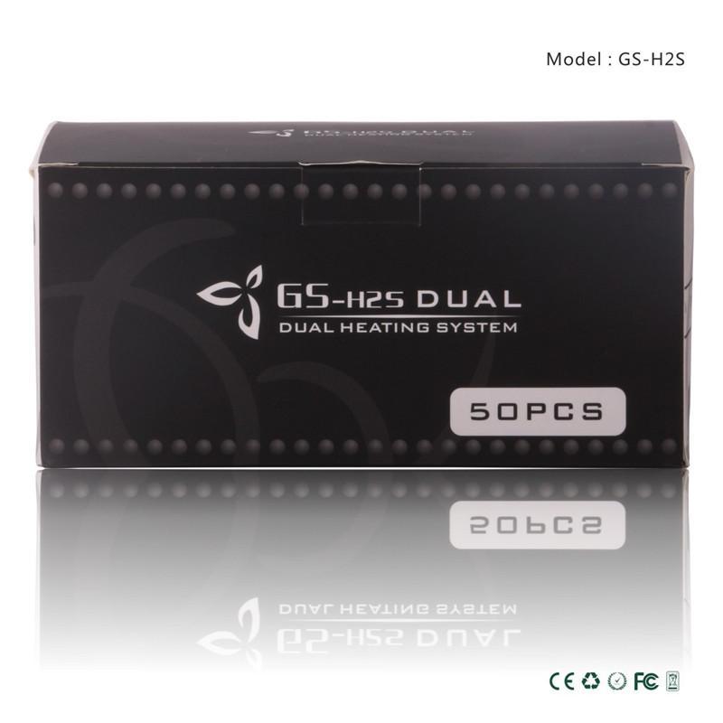 Vaporisateurs GS H2S Clearomizer Ecig a mis à jour les réservoirs d'atomiseur Ego H2 Double bobines 510 fils gsh2 1,5 ml Fit Vision Ego II 2200mah batterie
