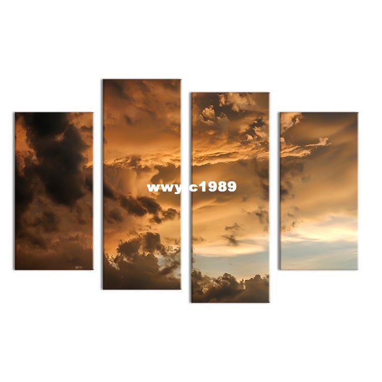 Compre 4 Unids Cielo Oscuro En Línea Pintura De La Pared Impresión ...