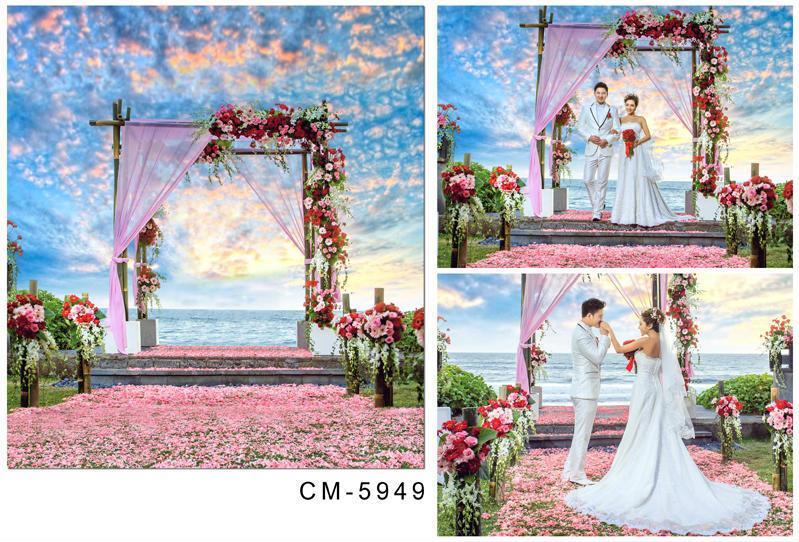 3x4m For Wedding Photos Photography Vinyl Backdrop