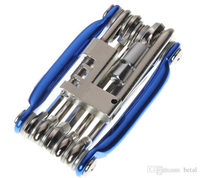 Mini Repair Pocket Folding Tool 11 in 1 Bicycle Moutain Road Bike Tool Set Cycling Multi Repair Tools Kit Wrench