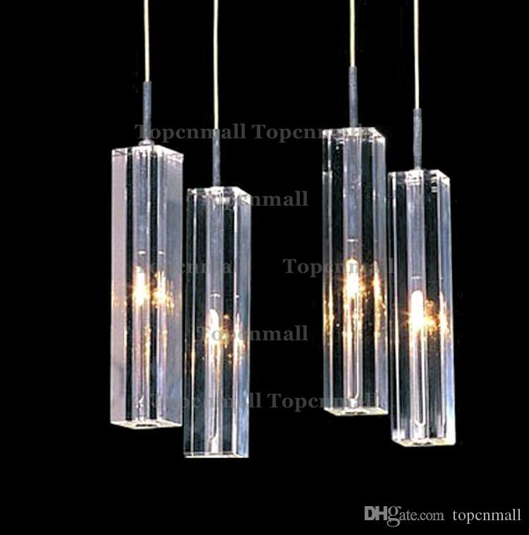 Modern Minimalist Fashion Pendant Light K9 Crystal Block S-shaped Transparent Duplex Staircase Chandelier Stair lamp Lamps Light For Hotel